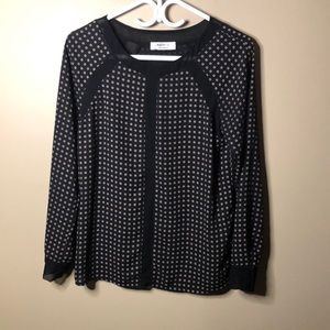 Bailey 44 printed blouse with mesh detail